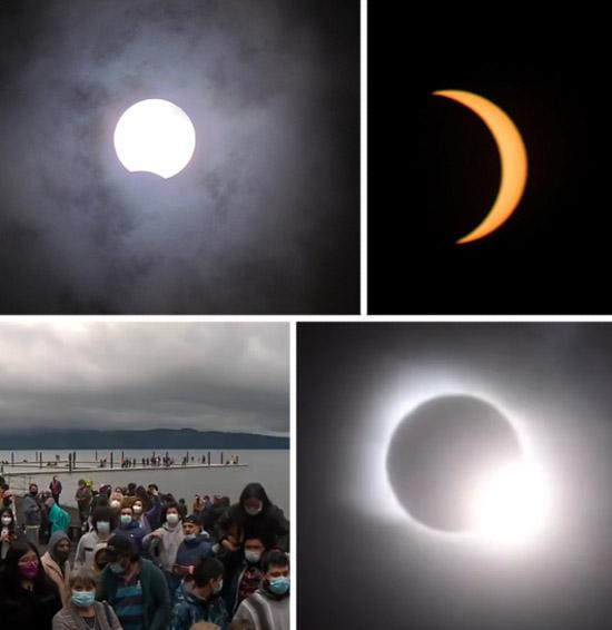 O Dia virou Noite durante Eclipse e deixou no Escuro cidades na Argentina e no Chile - Img 2