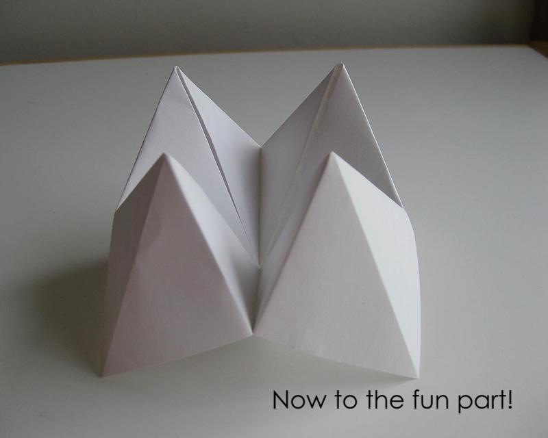 My Handmade Home: Tutorial: Origami Fortune Teller