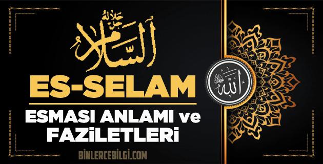 Es-Selam ism-i şerifi, Allah'ın (cc) 99 Esmaül Hüsnasından olan Es-Selam ne demek, anlamı, zikri, fazileti nedir? Es-Selam Ebced değeri, zikir adedi ve günü nedir?