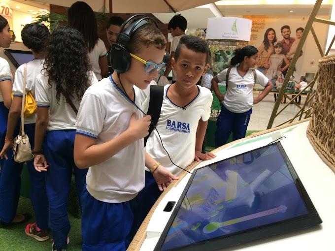 Estudantes da rede estadual visitam o projeto Conexão Estação Natureza