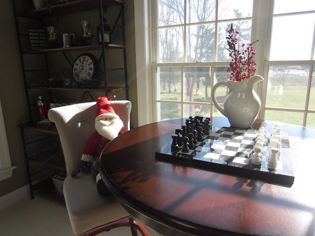Decorating with Santa