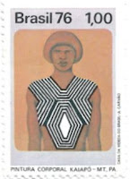 Selo Pintura corporal Kaiapó