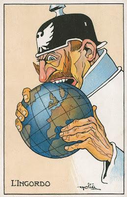 Ο γερμανικός επεκτατικός μιλιταρισμός, καρικατούρα του Κάιζερ, από τα χρόνια του Πρώτου Παγκοσμίου Πολέμου / German nationalism during World War 1, a caricature