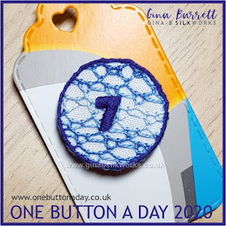One Button a Day 2020 by Gina Barrett - Day 67 : Seventh Lace Stitch