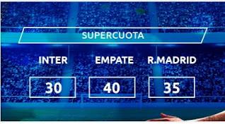 Mondobets supercuota Inter vs Real Madrid 25 noviembre 2020