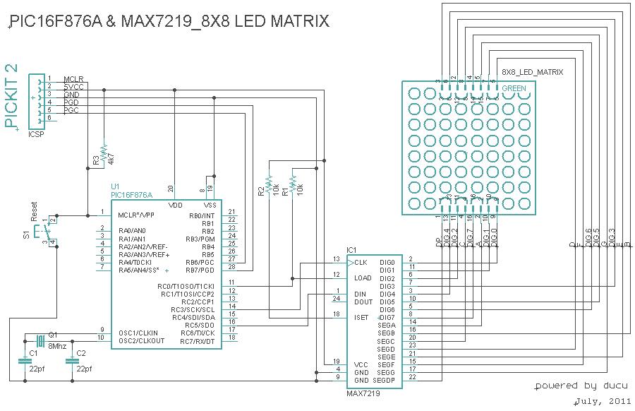 Electronic Experiments: Dot Matrix Led 8x8 & MAX 7219