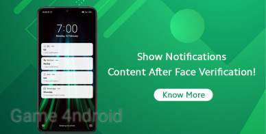 How to Hide Notifications Content until Face Recognition?