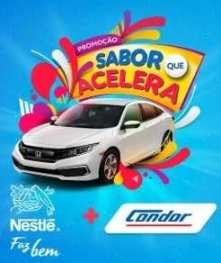 Promoção Sabor Que Acelera Nestlé e Condor Concorra Carro 0KM Honda New Civic