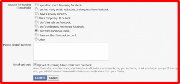 how to completely deactivate my facebook account