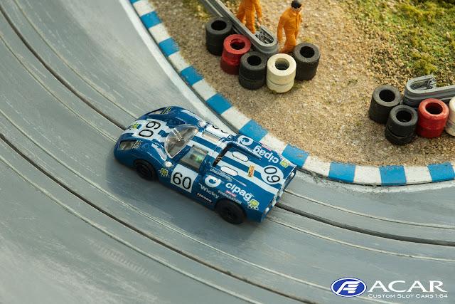 Slotcar Porsche 910 24h Le Mans 1970 Guy Verrier #60