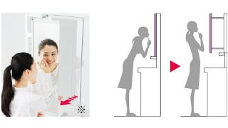 TOTO リモデア スウィング3面鏡