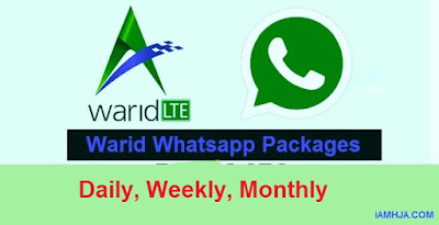 Warid free Whatsapp Packages Daily, Weekly, Monthly