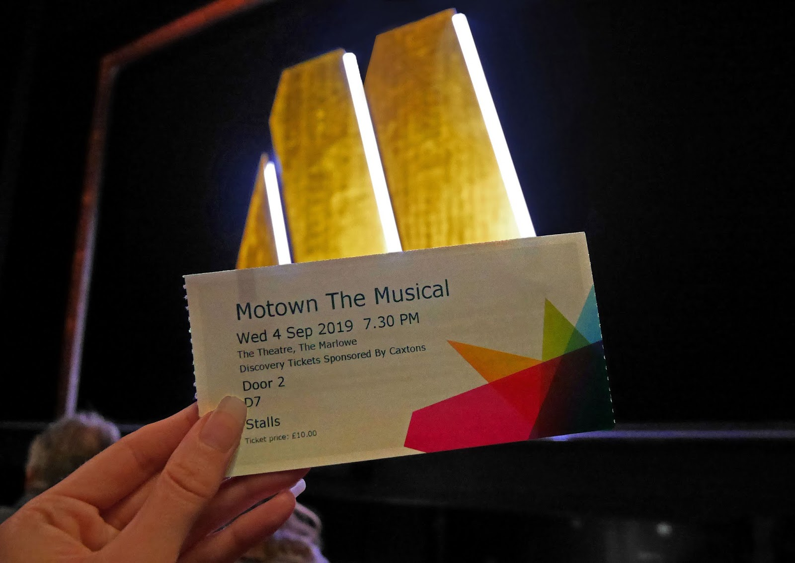 My Discovery Ticket for Motown The Musical at the Marlowe Theatre, Canterbury