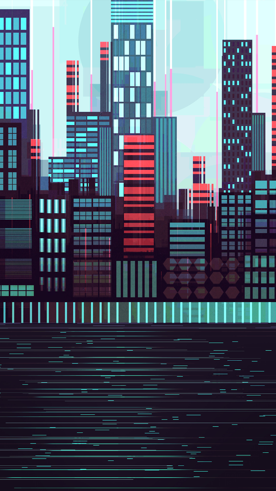 City illustration wallpaper