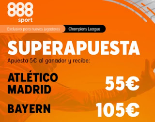 Superapuesta 888sport Atletico v Bayern 1-12-2020
