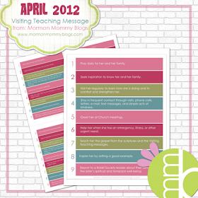 and Spiritually Speaking: April 2012 Visiting Teaching ...