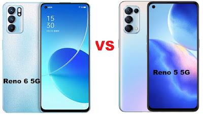 مقارنة بين Oppo Reno 6 5G و Reno 5 5G مقارنة بين اوبو رينو 6 5G و رينو 5 5G مقارنة بين أوبو Reno 6 5G و Reno 5 5G