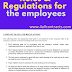 Rules & Regulations for the employees - pdf