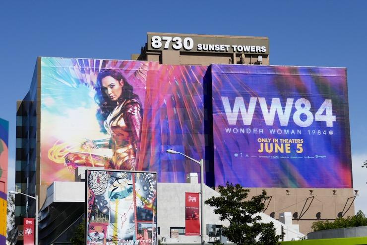 Giant Wonder Woman 1984 movie billboard