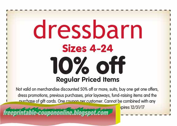Find all the best dressbarn coupons, promotions, exclusive offers and discounts on must-have pieces here on this page. dressbarn sales occur weekly throughout the season based on inventory. Stay ahead of the curve on dressbarn's promotions by checking back often or by signing up for email (to your right).