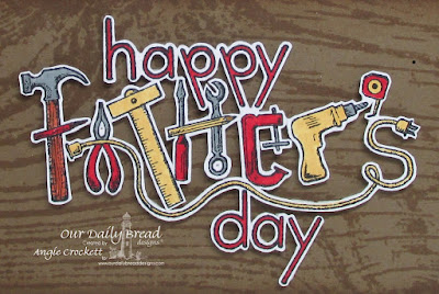 ODBD Wood Background, ODBD Father's Day Tools, Card Designer Angie Crockett