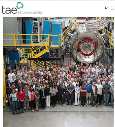Research into fusion power draws in small companies (Source: www.tae.com)