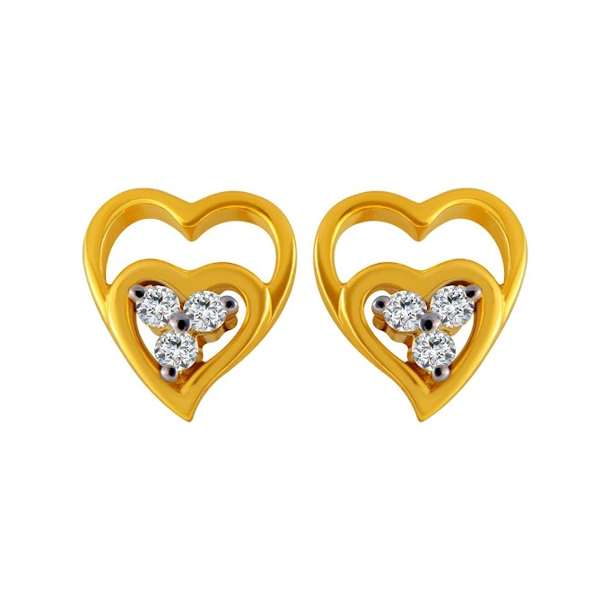 P.C. Chandra Jewellers 14KT Yellow Gold Stud Earrings for Women