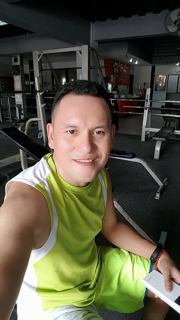 Nelson Judaya selfie in his workout