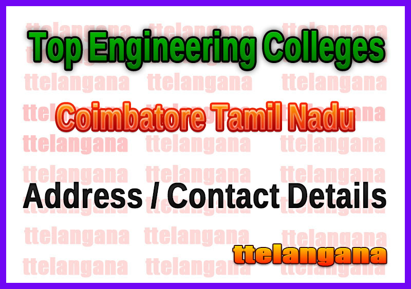 Top Engineering Colleges in Coimbatore Tamil Nadu