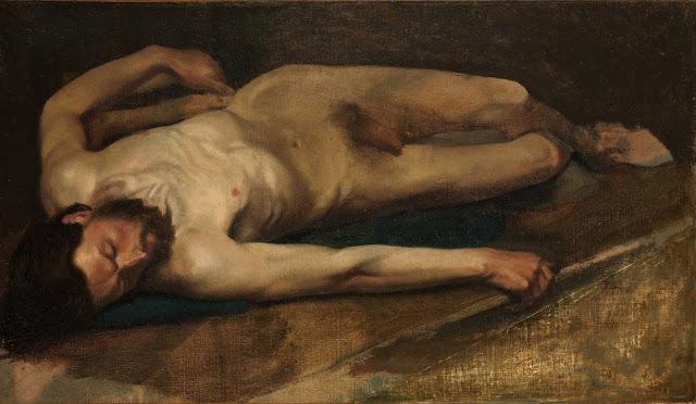 Эдгар Дега - Обнажённый мужчина (1856)