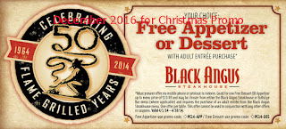 Black Angus Steakhouse coupons december