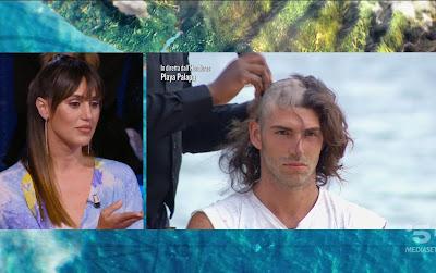 Ignazio Moser taglio capelli in diretta Isola Dei Famosi 24 maggio