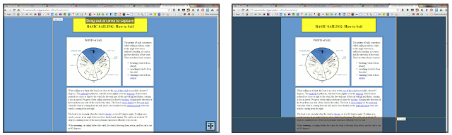 Snagging a portion of a screen with Snagit.