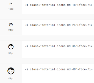 adding css rule to increase the material design font icons size