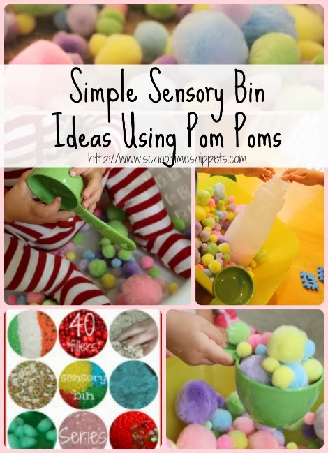 Sensory Bin Ideas Using Pom Poms: 3 Ways to Play!
