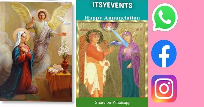 Wish Happy Annunciation through WhatsApp