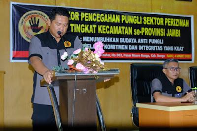 Kegiatan Rakor Untuk Pencegahan Pungli Pada Sektor Perizinan Tingkat Kecamatan Se Provinsi Jambi Dilaksanakan Di Kabupaten Bungo