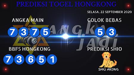Prediksi Togel Angka Jitu Hongkong HK Selasa 22 September 2020