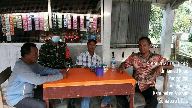 Dengan Komsos, Personel Jajaran Kodim 0208/Asahan Jalin Silaturahmi Dengan Mitra Karib
