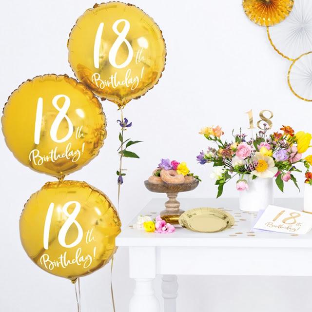 Balony foliowe na 18 urodziny okrągłe