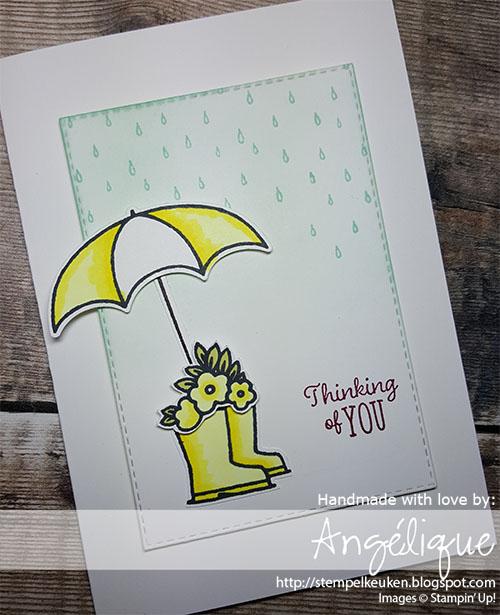 de Stempelkeuken Stampin'Up! producten koopt u bij de Stempelkeuken #stempelkeuken #stampinup #stampinupnl #stampinupnederland #cardmaking #undermyumbrella #rainorshine #littleladybug #ladybug #lieveheersbeestje #kaartenmaken #papercrafter #papercrafting #stampinblends #spongingtechnique #techniek #diy #workshop #denhaag #delft #westland #rijswijjk #gouda #pineapplepunch #merrymerlot