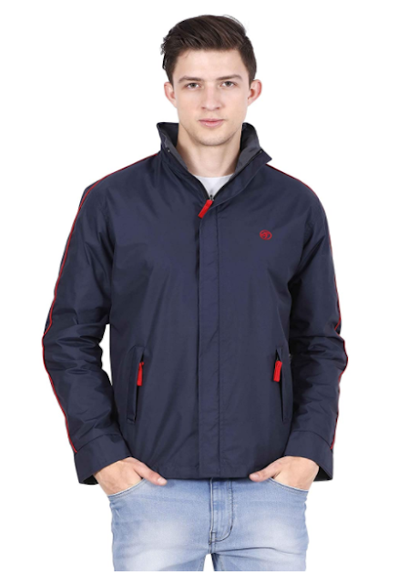 Forest Club Solid's Mens Jacket   Water Resistant   Reversible   Light Weight   Jacket for Men with Hood   (SLIM FIT)