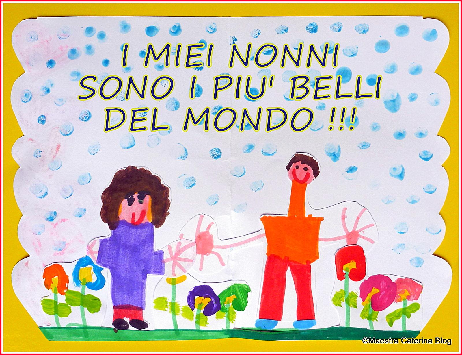 Favorito Maestra Caterina: Festa dei Nonni - Lavoretto e poesia YA89