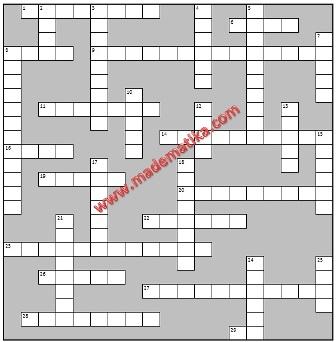 Permainan: Teka-Teki Silang Matematika