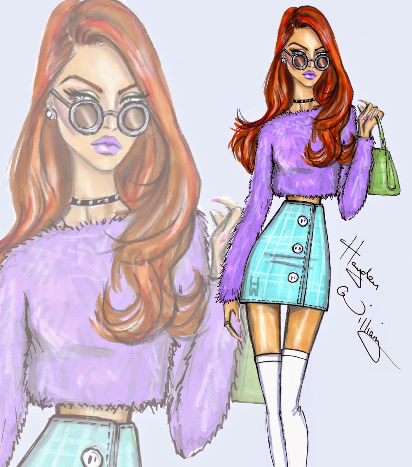 Hayden Williams Fashion Illustrations Pastel Perfection