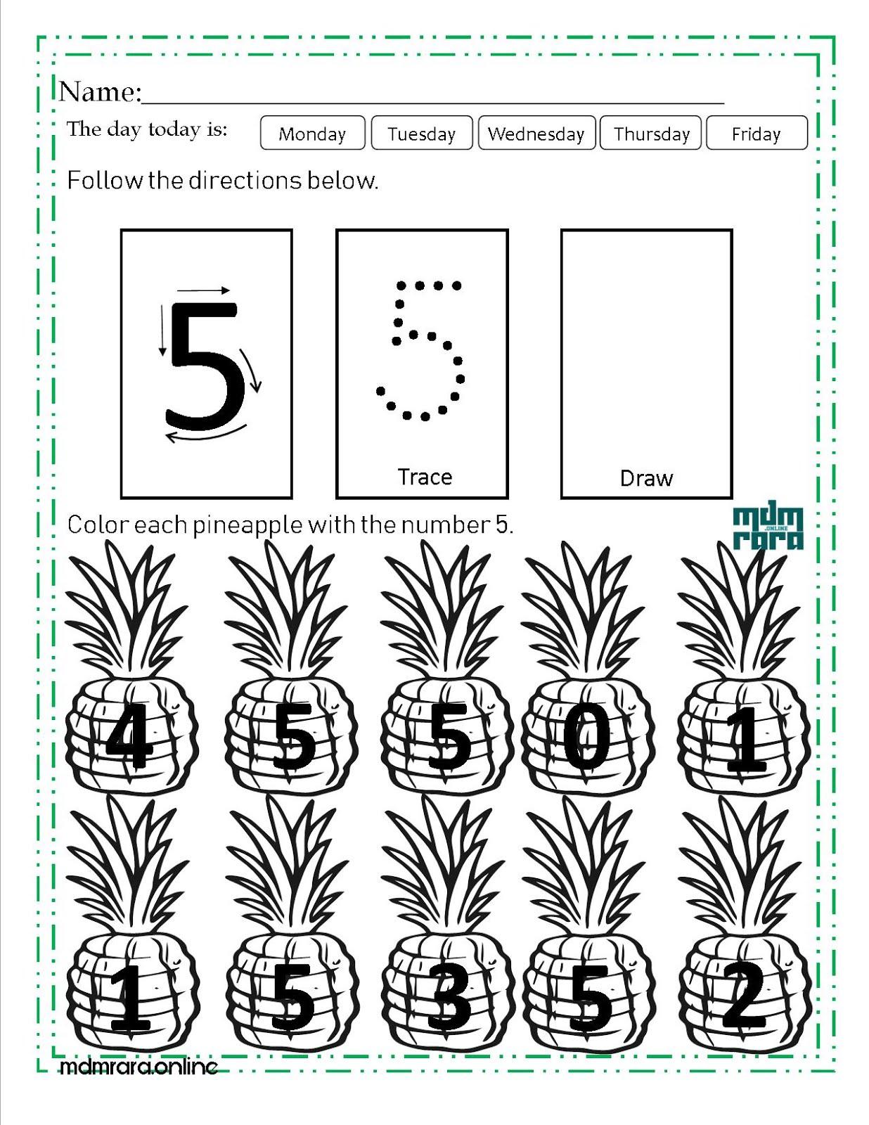 Numbers Worksheet 1 10