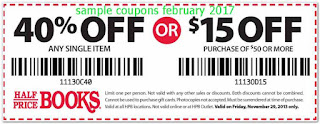 Half Price Books coupons for february 2017