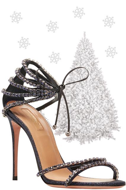 Aquazzura Luminous sparkling stardust fabric swank starry night open toe party sandal #brilliantluxury