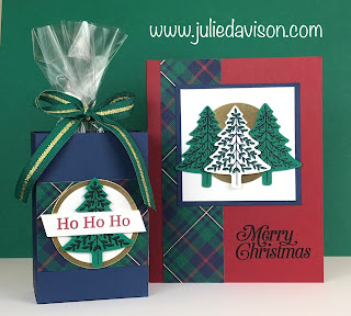 Stampin' Up! Perfectly Plaid Card &Treat Box ~ 2019 Holiday Catalog ~ www.juliedavison.com