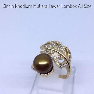 Supplier Mutiara Lombok Cincin Rhodium